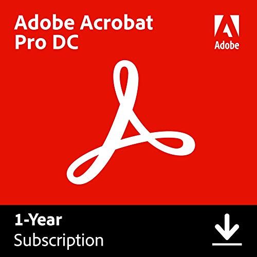 Adobe Acrobat Pro DC | PDF converter | 12-month Subscription with auto-renewal, PC/Mac