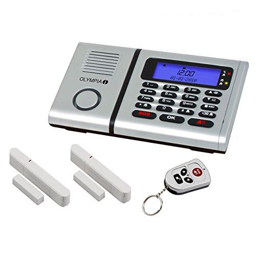 Olympia 5901 Protect 6030 Drahtlose Festnetz Alarmanlage mit Notruf und Freisprechfunktion, App Steuerung mit ProCom App, silber