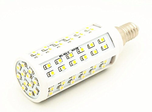 12Vmonster CA y CC 12 V 24 V 5 W 84X 3528 Cluster bombilla LED de luz blanca fría con montaje para lámpara E14 SES tama � o peque � tornillo