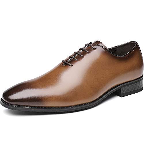 N / A Kleidschuhe der Männer Büro Derby Oxford Business Leather Brautmode,Brown-42