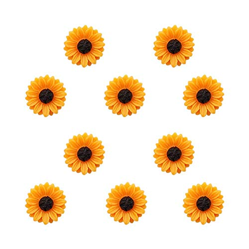 Joyci 10-Pack Women Brooch Lapel Pins Novelty Sunflower Daisy Safety Push Pin Buckle for Shirt Hat Cardigan Sweater Decorate Tie Tacks Pin Back Clutch (Sunflower)