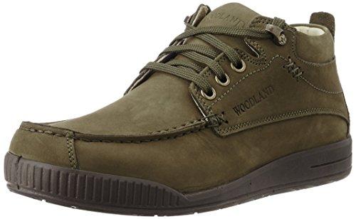 Woodland Men's Olive Green Leather Trekking and Hiking Boots - 5 UK/India (39 EU)