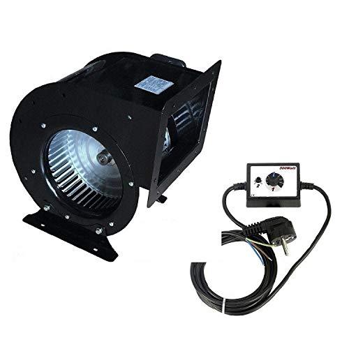 Uzman-Versand 215D Radialgebläse, Inklusive 500Watt Drehzahlregler Radialventilator Ventilator Gebläse Lüfter Dunstabzugshaube