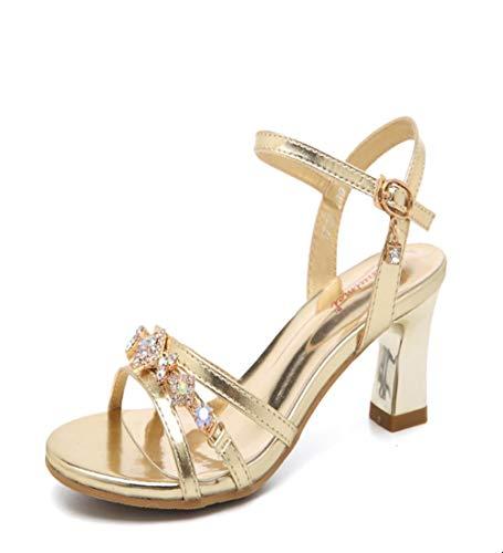 ZY&FC vrouwen hoge hakken sandalen vrouwen strass gouden schoenen