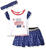 Quiltex Girls' Toddler QIG93868, RED White and Cute, 12M
