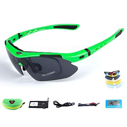WSC Gafas De Bicicleta De Montaña, Ciclismo para Hombres Y Mujeres, Correr, Pescar, Gafas para Ciclismo(Color:GRAMO)