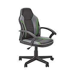 Stylish compact office PC chair, for gaming, homework and watching movies. Perfectly sized for junior users Height adjustable desk chair with sleek ergonomic design. Fixed arm rests plus foam padded seat and back for long term comfort and support Whe...