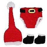 Soft Newborn Photo Contume Baby Crochet Ropa de Navidad para bebé