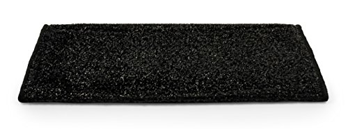 Camco 42947 RV Step Rug ( Premium Radius Wrap Around Step Rug, Turf Material (22' Wide) - Black)