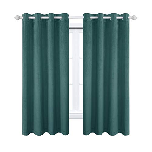 MAXIJIN Velvet Blackout Curtains - Tende e tende isolate da finestra Soft Room Darkinging, 1 pannello per camera da letto, soggiorno, 1 x 175 x 140 cm (A x L x P)