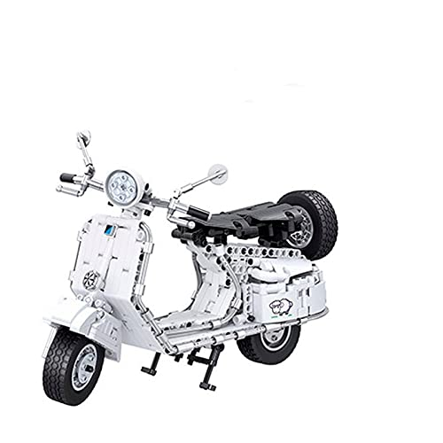 Boutique Lego 402 Ciudad Scooter Puzzle Bloques De Construcción DIY Locomotora Modelo Colección Regalo Souvenir Toy Car (Color : White)