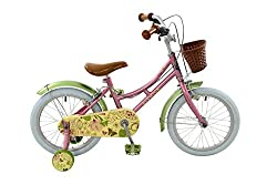 16 inch Steel wheels and pneumatic tyres for better traction and comfort. Wicker effect handlebar basket for all young girls essentials. Twin caliper brakes with adjustable short-reach levers. Height adjustable hi-rise handlebars. Padded comfort sadd...