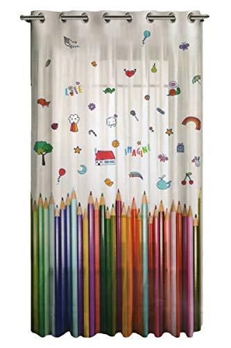 Tende cameretta Bambini su misura-panello Tende-Stampa Digitale-Misura bxh cm 200x290-tende confezionate con occhioli (A-1 pannello 200x290 cm)