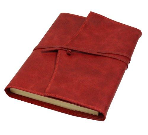 Papuro Milano Nachfülleinlage für Italienisches Leder rot Adressbuch–15x 21cm