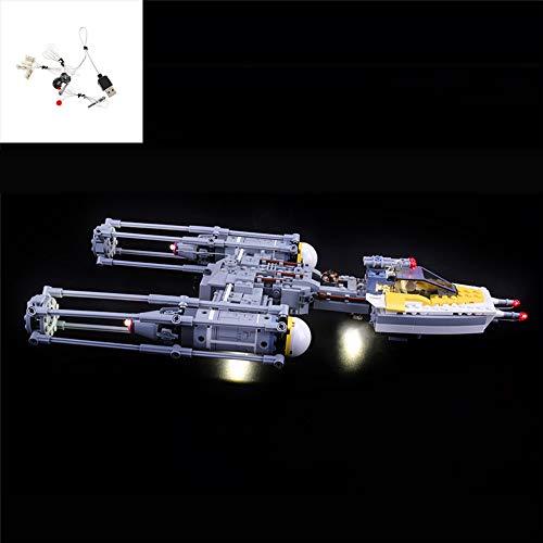 QJXF Juego De Luces USB Compatible con Lego Star Wars Y-ala Starfighter 75172, LED Light Kit para (Y-Wing Starfighter) De Bloques De Creación De Modelos (No Incluido Modelo)