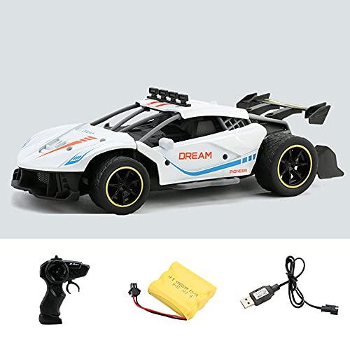 WZRYBHSD Simulación de alta velocidad Drift Racing Alloy RC 2.4G Control remoto Coche Coche deportivo eléctrico inalámbrico Juguete para niños Interior y exterior Coche deportivo plano Regalo Adulto C