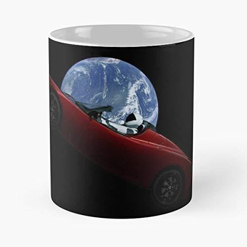 Orangeburps Tesla Starman Musk Falcon Elon Heavy Car Roadster Taza de café con Leche 11 oz