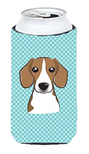 Checkerboard Bleu Beagle Tall Boy Koozie Hugger Bb1177tbc