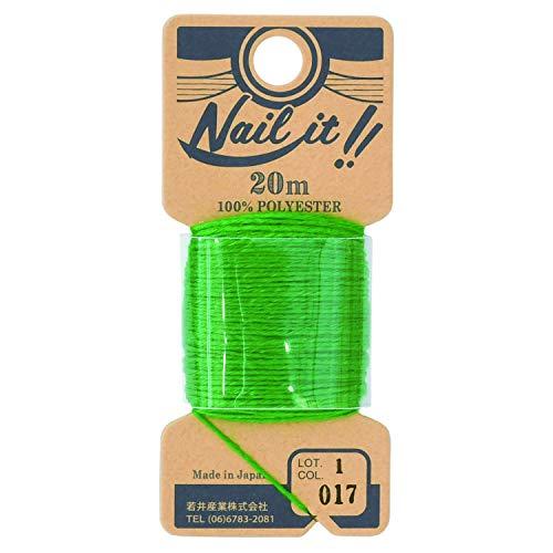 若井産業 ネイルイット用ストリング糸 約20m モスグリーン 1巻 NL01820
