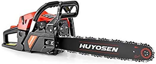 HUYOSEN Gas Power Chain Saws Corded 46 CC 2 Cycle Gas Powered Chainsaw Guide Bar Size 18 inchs 0.325 inchs 72DL Chain Guide Bar 4518L