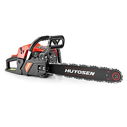HUYOSEN Gas Power Chain Saws Corded 46 CC 2 Cycle Gas Powered Chainsaw Guide Bar Size 18 inchs 0.325 inchs 72DL Chain Guide Bar