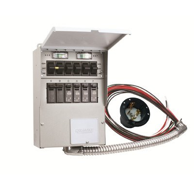 506A Pro Tran2 50-Amp 6-Circuit 2 Manual Transfer Switch with Optional Power Inlet