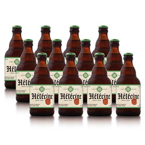 Hélécine - Cerveza de abadía belga Ambrée - Pack de 12 Botellas de 33 cl