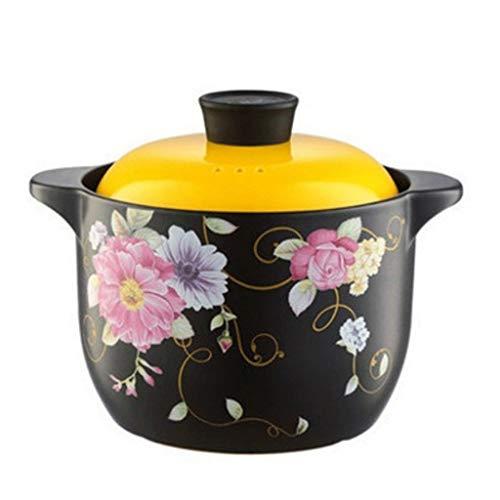 Diaod Céramique Casserole, Cocotte avec Couvercle, antiadhésif céramique Pan marmite à Soupe Cooker résistant à la Chaleur dans Cuisine & Maison Jaune