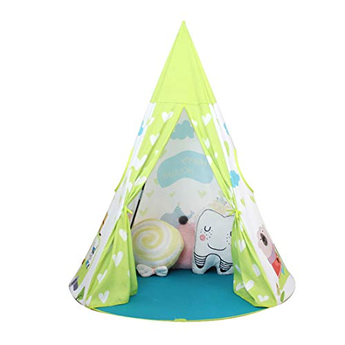 Beneyond Children Teepee ,Indian tent, children's tent, princess castle, baby toy house, infant play house, Indian foldable, green, 125*125*140cm, is the best for boys and girls, birthday present.