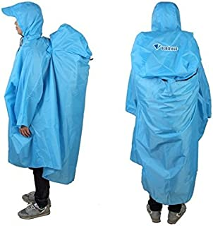 BlueField Lightweight Backpack Poncho (Multiple Color Options Available) (Sky Blue)