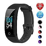 Juboury Fitness Armband mit Pulsmesser Blutdruckmesser, Fitness Tracker Smartwatch Wasserdicht IP68 Aktivitätstracker Schrittzähler Uhr Damen Herren Farbbildschirm SMS für iPhone Android...