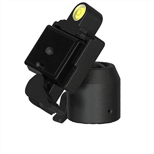 DynaSun WT002H kop voor professioneel statief met kogelkop, met snelwisselplaat voor fotocamera/videocamera, zwart