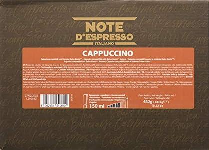 Note D'Espresso - Cápsulas de capuchino instantáneo Exclusivamente Compatibles con cafeteras de cápsulas Nescafé* y Dolce Gusto* 9g (caja de 48 unidades)