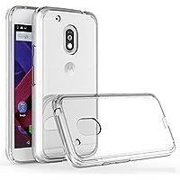 REY Funda Carcasa Gel Transparente para Motorola Moto G4 Play, Ultra Fina 0,33mm, Silicona TPU de Alta Resistencia y Flexibilidad