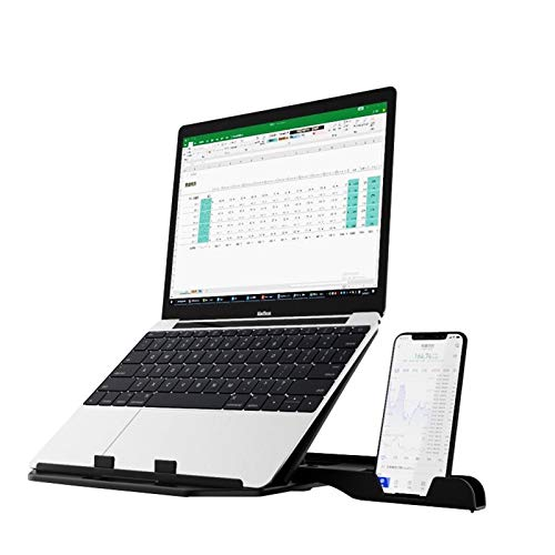ノートパソコン スタンド PCスタンド 折りたたみ式 タブレット スタンドラップトップスタンド 高さ 角度 調整可能 pc スタンド 軽量PC/MacBook/ラップトップ/iPad/タブレット ノートpc スタンド パソコン スタンド スマホ ホルダー付