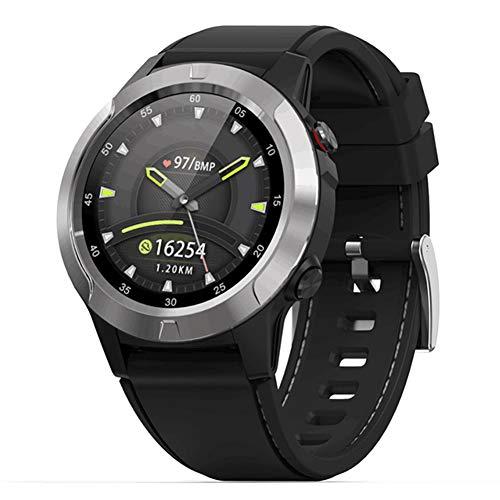 Deportes al Aire Libre Reloj Inteligente Impermeable Bluetooth GPS Reloj de Pulsera Rastreador de Ejercicios con Monitor de frecuencia cardíaca y sueño Brújula de calorías para Senderismo Ciclismo