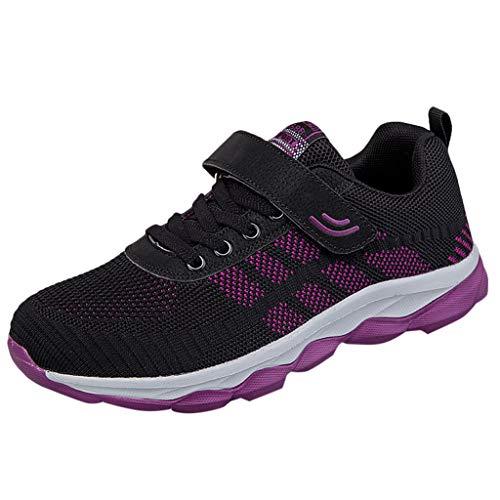 Shinehua Sportschoenen voor dames, sneaker, ademend, lichte wandelschoenen, comfortabele veters, straatloopschoenen, fitness, trekking, hardloopschoenen