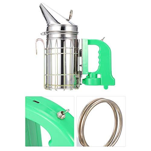 Ahumador de colmena eléctrico de acero inoxidable, duradero, portátil, ahumador de abejas...