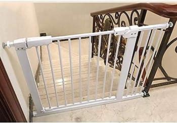 Sécurité pression Fit porte en métal Supports 78cm de haut La largeur peut être sélectionnée 61-232 porte bébé Pet Porte avec possibilités d'extension ( Color : High 78cm Width , Size : 114-124CM )