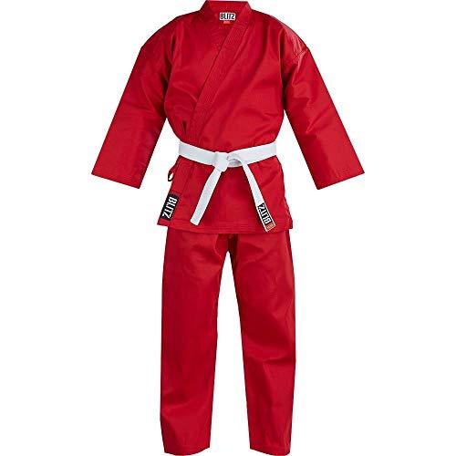 Blitz Unisex Poly Cotton Student Karate Anzug, rot, 2-150 cm