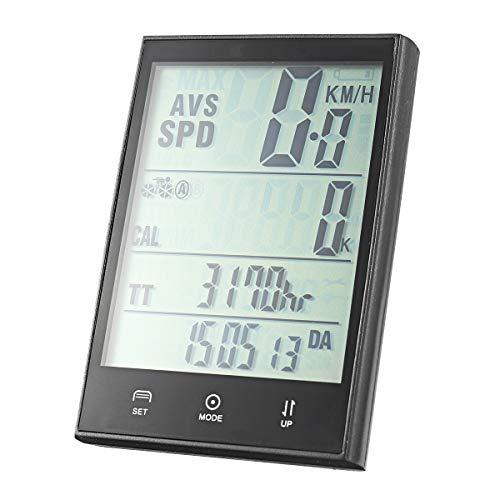 MXBIN 2.7inch Pantalla LCD de la Bici del velocímetro con Cable/inalámbrico Impermeable...