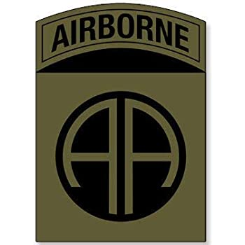 amazon com magnet 3x4 inch subdued colors 82nd airborne aa logo sticker insignia ssi army crest magnetic vinyl bumper sticker sticks to any metal fridge car signs kitchen dining amazon com