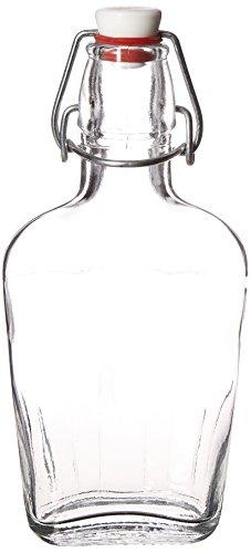 Bormioli Rocco, 8.5 oz, Clear Pocket Flask, 8,5 oz, trasparente, Acciaio inox 18/8, neutro