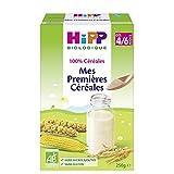 Hipp Biologique 100% Céréales Mes Premières Céréale dès 4 mois - 6 boîtes de 250 g