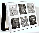 Cuadroexpres - Tapa de Contador Moderna en Plata 22x37x4cm cm (Interior) Caja Decorativa para el Cuadro eléctrico. En Melamina Negra.Pintada a Mano y Fácil de Colocar.