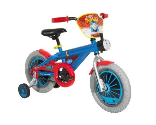 Dynacraft Childrens Custom Thomas and Friends Themed Beginner Street Bike with Removable Training Wheels, 14-Inch
