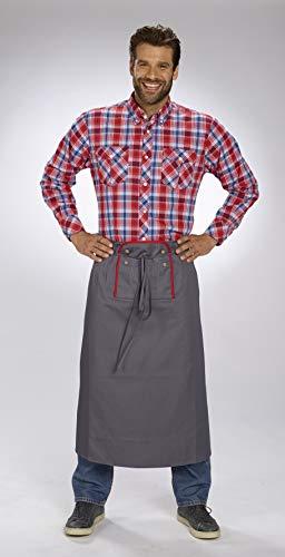 Oktoberfest Schort voor mannen kleurgrijs / rood one size fits all