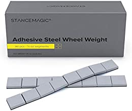 StanceMagic - 0.25oz 1/4oz - Gray Adhesive Stick On Wheel Weights, Easy Peel, Low Profile, Zinc Plated Steel Balancing Weights for Cars Bikes ATV UTV, 5.625 lb box (90oz), Contains 360 Pieces