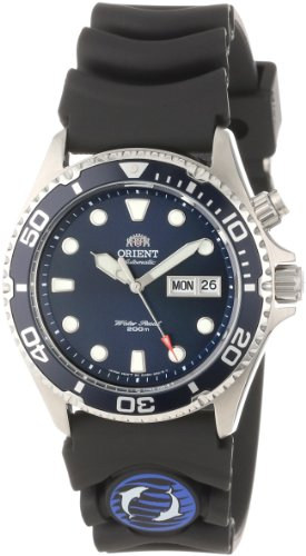 Orient Men's EM6500CD Ray Stainless Steel Watch with Black Rubber Strap