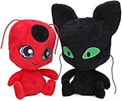Material:Plush, filling with PP Cotton Size: About 20cm; Weight:180g Package Included: 2 x Plush Toys Perfect gifts for Christmas,Easter, Valentine's Day or birthdays, graduation, party favors gifts. High quality gifts for kids, collectors, toddlers,...